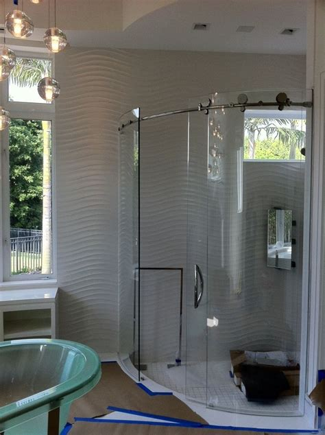 Curved Shower Door by Curved Shower Doors