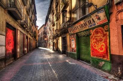 Alley Spain Street Background Side Wallpapers Zaragoza