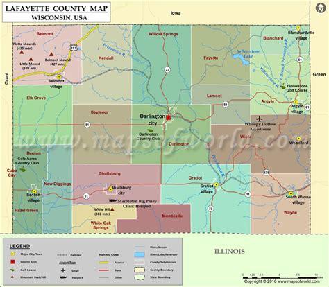 Lafayette County Map, Wisconsin