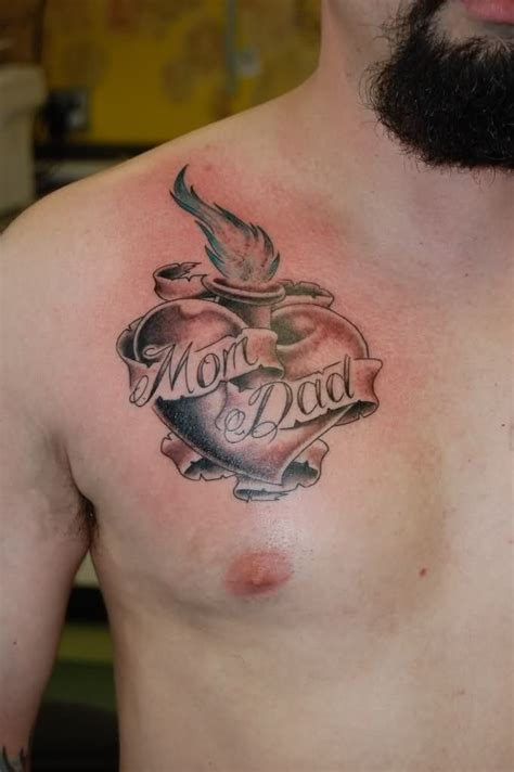 Small Heart Tattoo On Chest Meaning