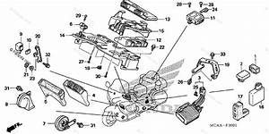 Honda Motorcycle 2009 Oem Parts Diagram For Control Unit