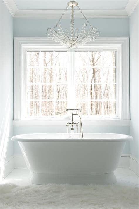 glass bubbles chandelier  roll top bathtub