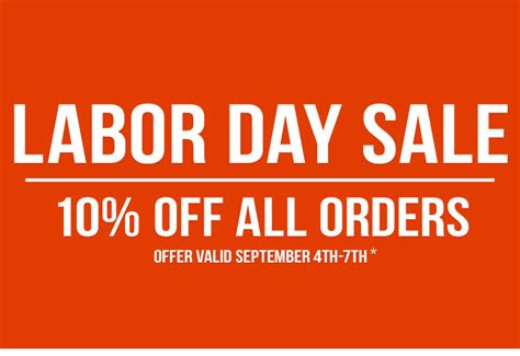 labor day sale 10 all orders