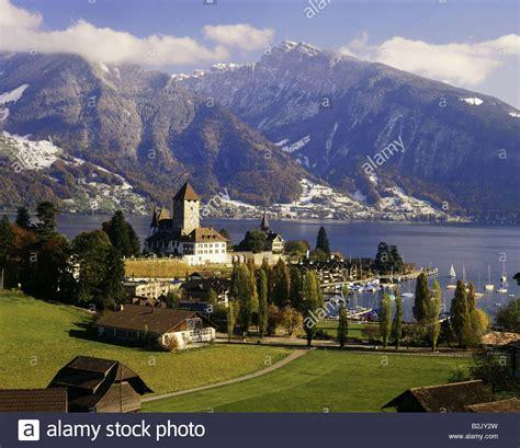 Geography Travel Switzerland Bern Spiez City Views