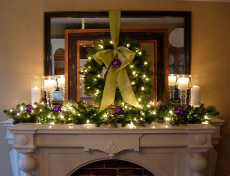 festive christmas mantel decorating idea    style