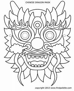 dragon mask With chinese dragon face template