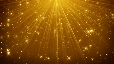 Bright Golden by Gold Light Rays And Loopable Background 4k