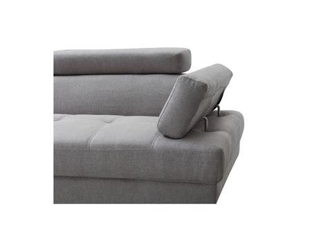 Canapu00e9 du0026#39;angle style scandinave pieds bois avec revu00eatement tissu gris clair