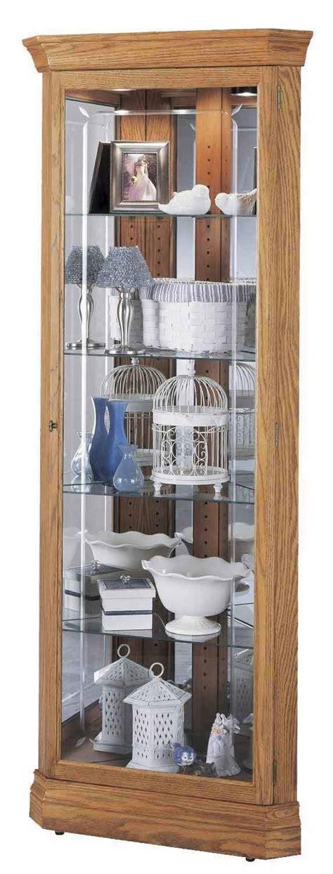 corner kitchen curio cabinet howard miller hammond 680 347 oak corner curio cabinet 5844