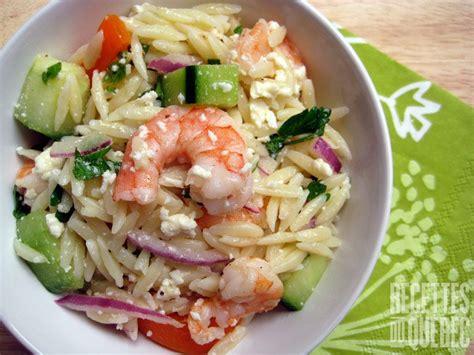 cuisiner les crevettes salade de crevettes grillées et d 39 orzo salades
