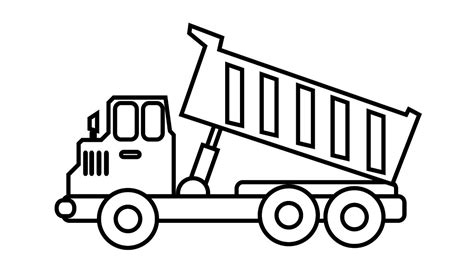 dump truck coloring page parumiorg