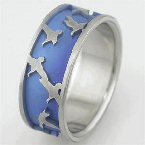the duck hunt ring duck wedding rings by titanium buzz With duck wedding rings