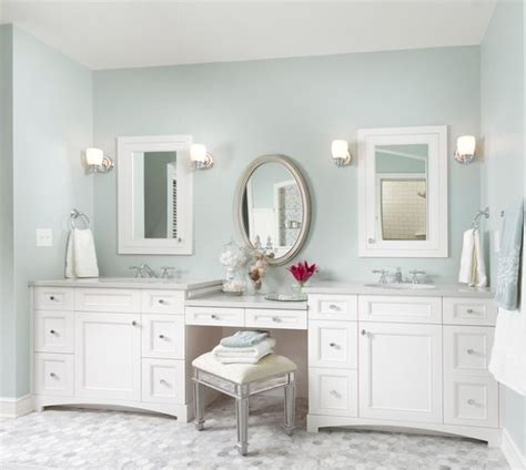 bathroom vanity with sink and makeup area double sinks with make up vanity bathrooms pinterest