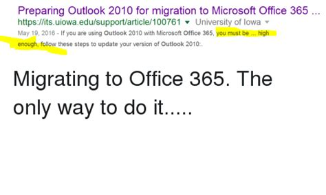 Office 365 Iowa by Preparing Outlook 2010 For Migration To Microsoft Office