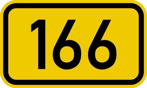 Bundesstraße 166 Number.svg
