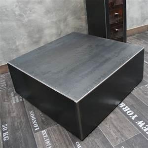 Table Basse En Acier : table basse en acier ~ Melissatoandfro.com Idées de Décoration
