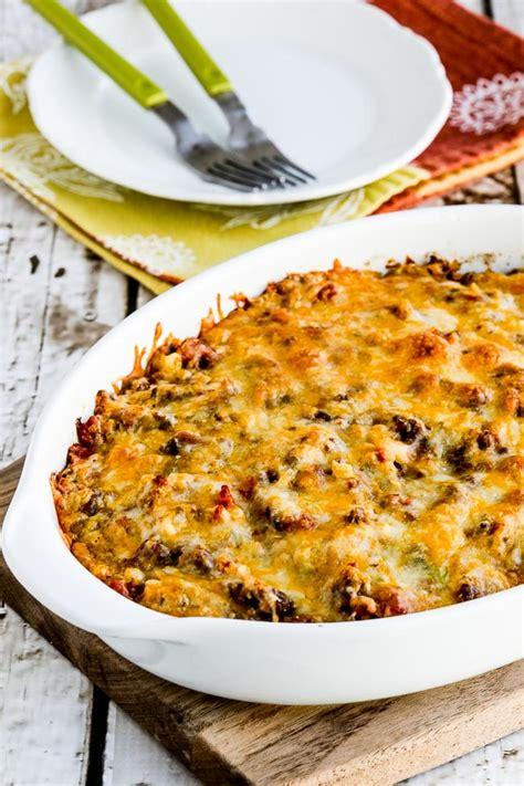 cheesy  carb taco casserole keeprecipes