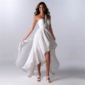 2016 new arrival cheap wedding dress white chiffon one for High low wedding dresses cheap
