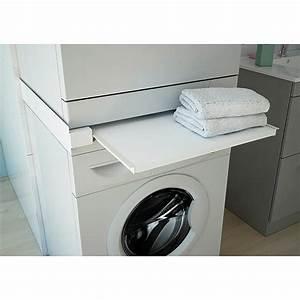 2 Waschmaschinen An Einen Wasserhahn : respekta waschmaschinen ablagefach ausziehbar wei ~ Michelbontemps.com Haus und Dekorationen