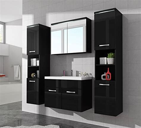 badezimmer unterschrank schwarz badezimmer badm 246 bel paso xl led 80 cm waschbecken