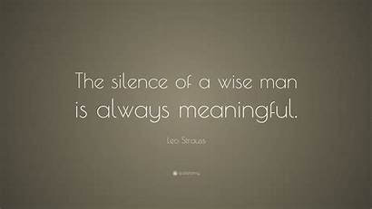 Meaningful Wise Wallpapers Leo Silence Strauss Quotes