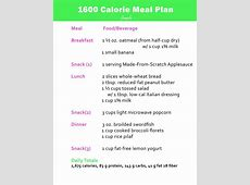 A 1600 calorie meal plan showing you a sample breakfast