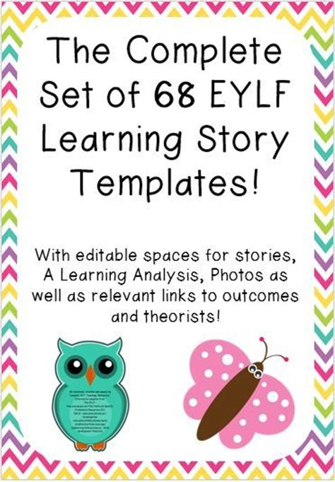 c templates the complete the complete set of 68 learning story templates
