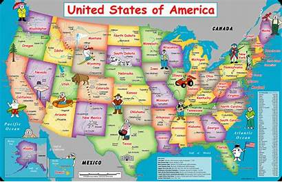 Map Usa States United Wall Maps Cities