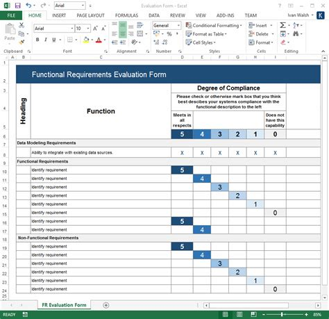 functional requirements specification template ms word