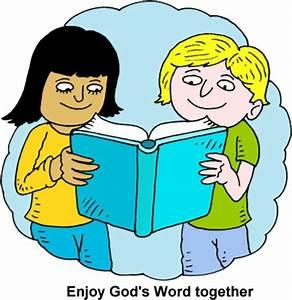 Image: Children Reading Bible Together | Bible Clip Art ...