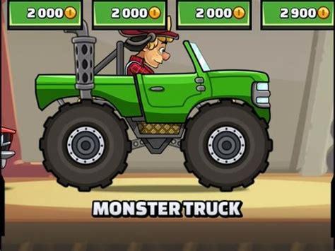 hill climb racing monster truck monster truck hill climb racing 2 update youtube
