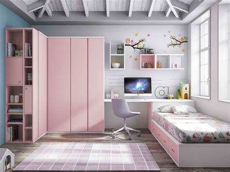 habitacion juvenil blanco  rosa  tirador box del