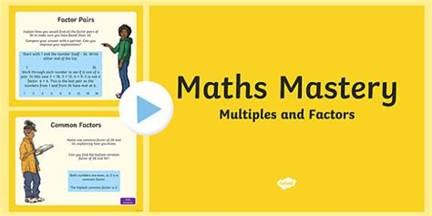 Factors And Multiples Powerpoint  Year 5, Multiplication And