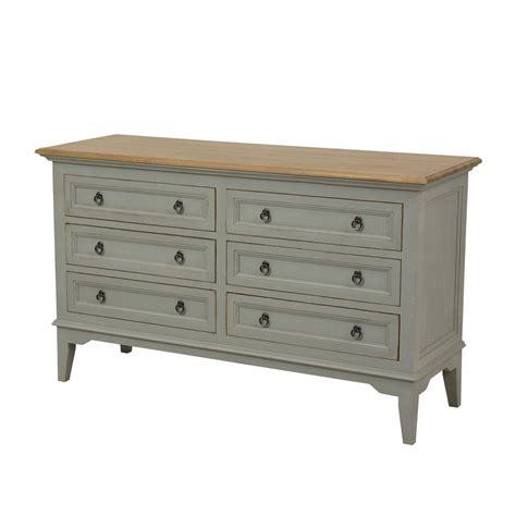 grande commode chambre commode 6 tiroirs gris interior 39 s