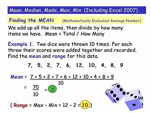 Worksheets. Formula Of Statistics Mean Mode Median ...