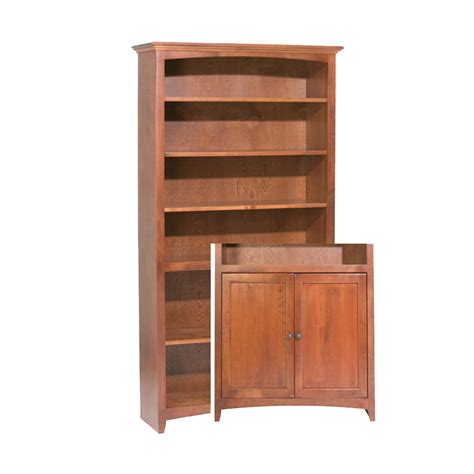 amish kitchen cabinets alder bookcase 72 quot h x 36 quot w with doors barr s 1243