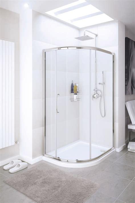 lakes classic single door offset quadrant shower enclosure