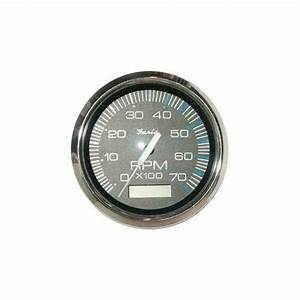 Faria Marine Tachometer 7k With Hourmeter Chesapeake Black