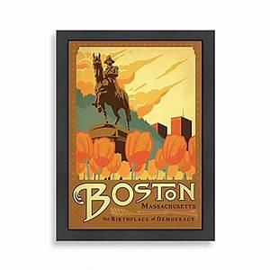americanflat boston framed wall art wwwbedbathandbeyondcom With boston wall art