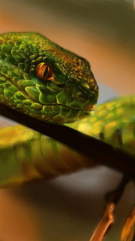 wallpaper snake green reptile eyes art animals