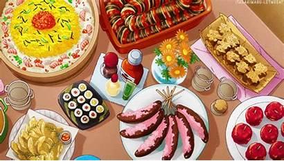 Anime Dinner Wars Feast Manga Breakfast Pastel