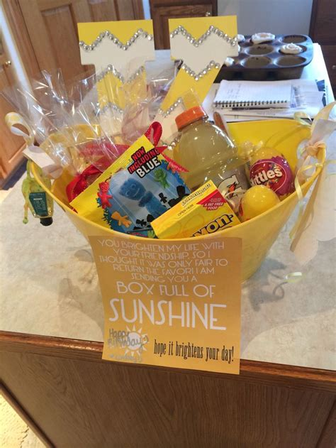 Bucket Of Sunshine I Made For Best Friend For Her