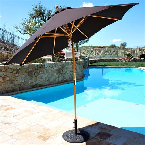 sun umbrellas for patio exterior wonderful rectangle patio umbrella with solar lights for shady seating homes