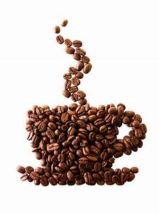 Coffee Beans Seamless Background Poster With A Cup Vector ...