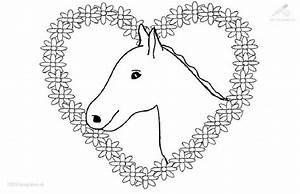 Kleurplaat Paard Met Hartjes Paarden Pinterest