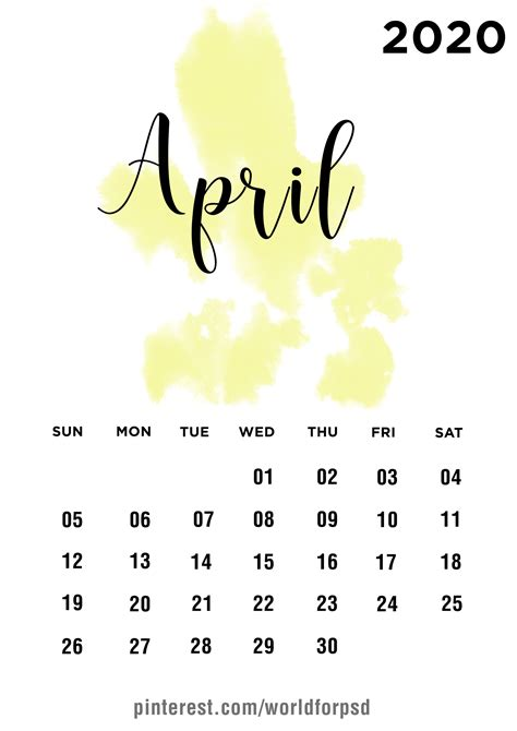 april  calendar design calendar calendarideas