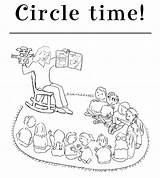 Circle Coloring Kindergarten sketch template