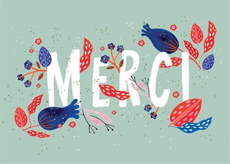 floral merci   card template