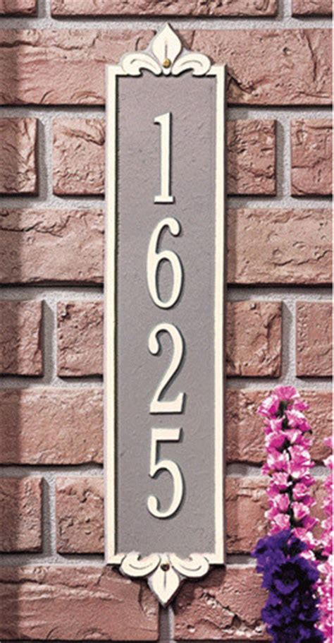 whitehall lyon vertical address plaque contemporary