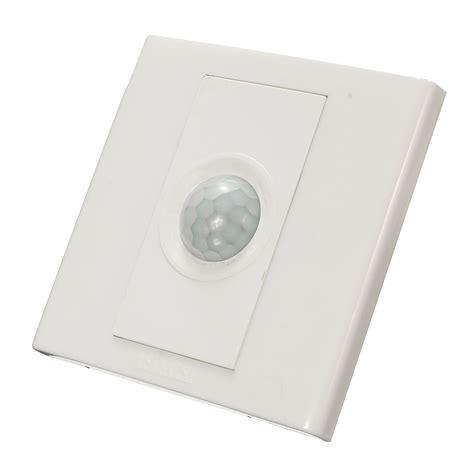 220v wall plate infrared pir motion sensor security sound